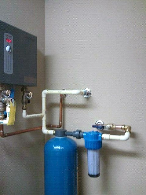 Water Filter and Tempra Tankless installation.